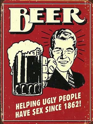 Beer Funny Retro metal Sign vintage / man cave / garage / Shed Gift / Pub / Bar