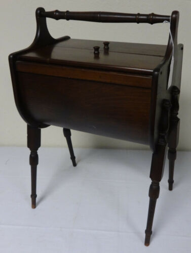Beautiful Antique Walnut Wood Sewing Stand