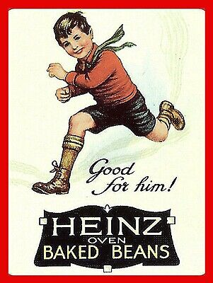 Heinz Oven Beans METAL VINTAGE RETRO SHABBY-CHIC SIGN WALL PLAQUE