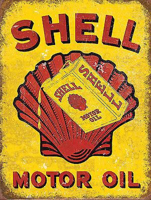 Shell Motor Oil Garage Retro metal Sign vintage / man cave / garage / Shed Gift