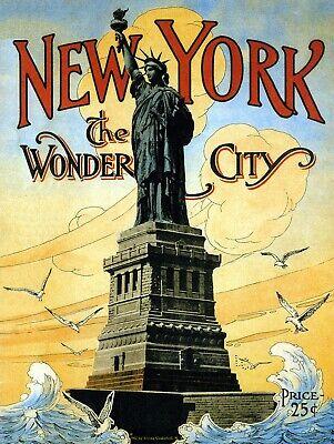 New York The Wonder City, Retro replica vintage style metal sign/plaque Gift