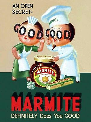 Good Marmite, Retro metal Sign/Plaque Wall vintage / Kitchen Gift
