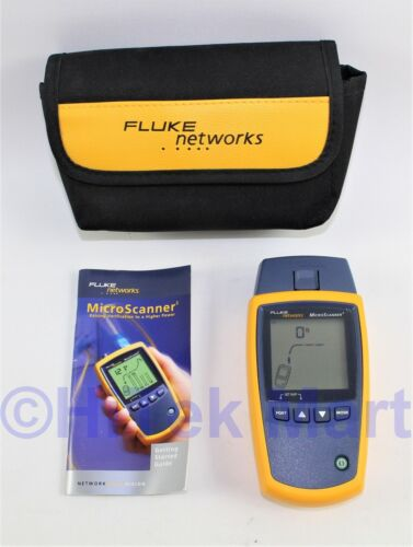 Fluke Networks MicroScanner 2 Cable Tester with Soft case