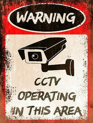 Warning CCTV Operating, Retro replica vintage style metal sign/plaque Gift