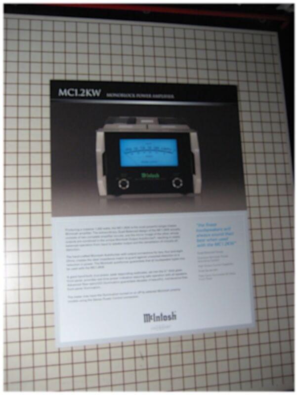 mcintosh mc1 2kw original monoblock power amplifier brochure ebay. Black Bedroom Furniture Sets. Home Design Ideas