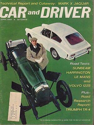 Car And Driver Magazine April 1962 Sunbeam Harrington 080817nonjhe