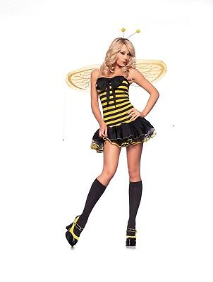 Sexy Halloween Adult Lil Bumble Bee Costume w Wings