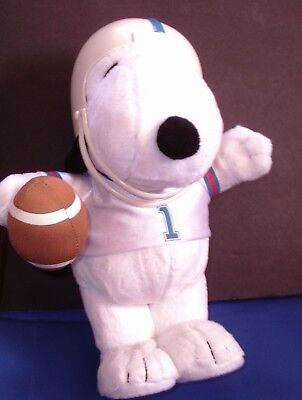 "Snoopy Football Player Animated Plush Toy Doll  (Plays ""Glory, Glory"")"