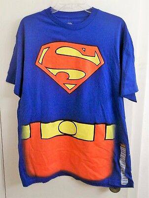 Superman T-Shirt with Cape Adult Large Size L New with - Superman Cape Adults