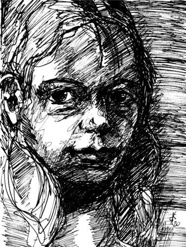 """Tintenzeichnung """"Portrait"""""""