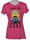 Cotton Blend Despicable Me Minions Tops for Women