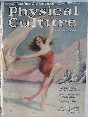Vintage medical USA magazine PHYSICAL CULTURE feature Curing Cold 1924 (Usa Physical Features)