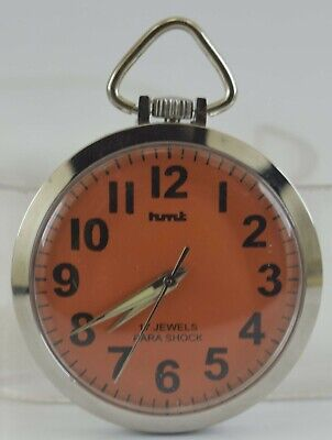 Vintage HMT 17Jewels Winding Pocket Watch For Unisex Use Working Good D-241-22