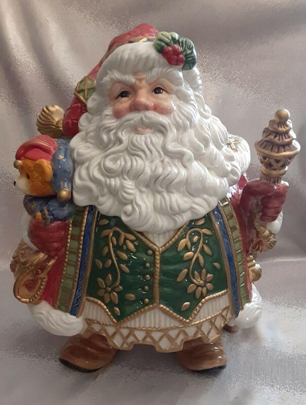 Fitz and Floyd Classics Jolly Ole ST Nick Santa Cookie Jar
