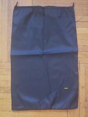 AUTHENTIC Fendi Black Drawstring Dust Bag TieCover Storage Case XL Large size