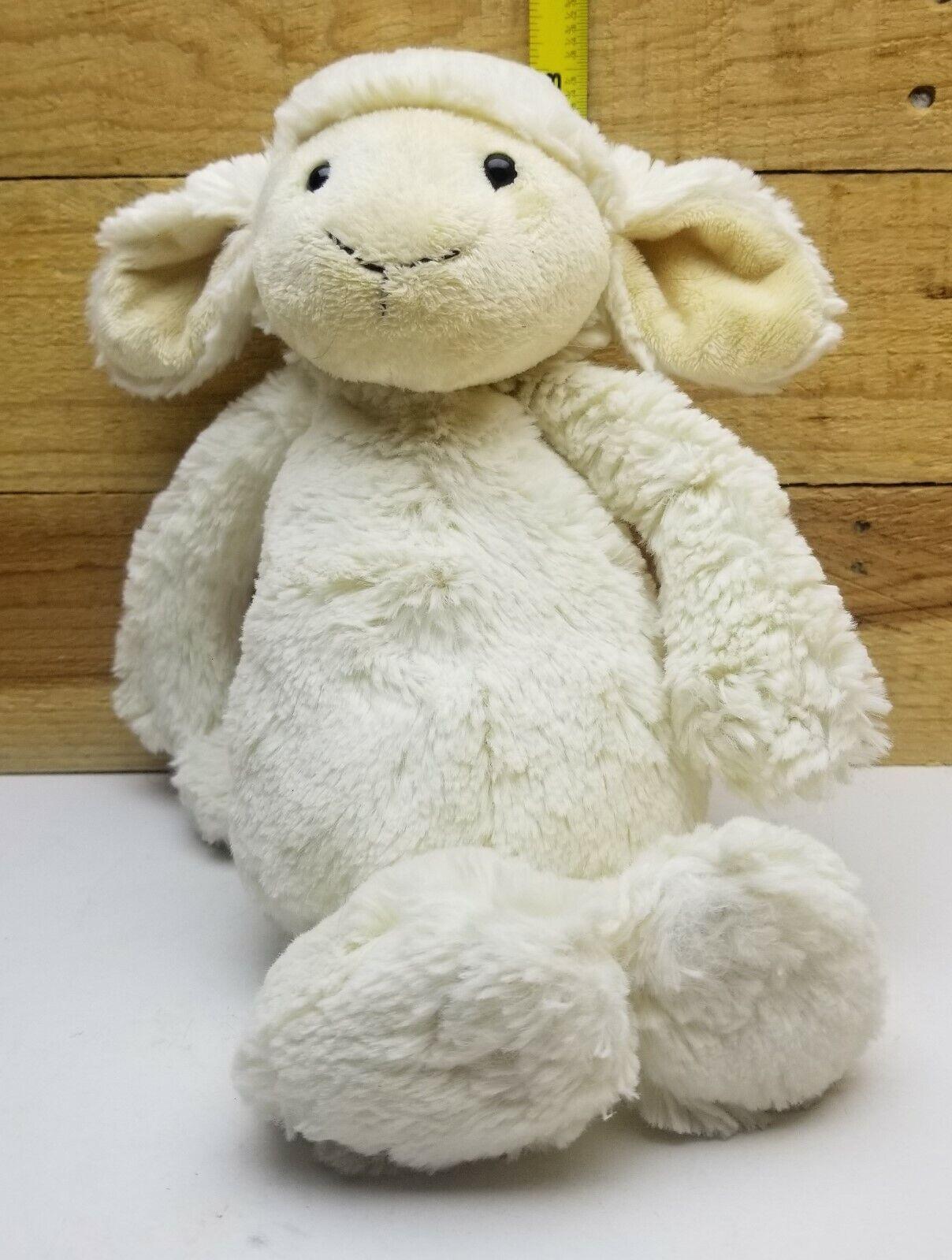 "Jellycat Squiggle Lamb 9"" White Cream Sheep Lovey Floppy Plush Stuffed Animal"