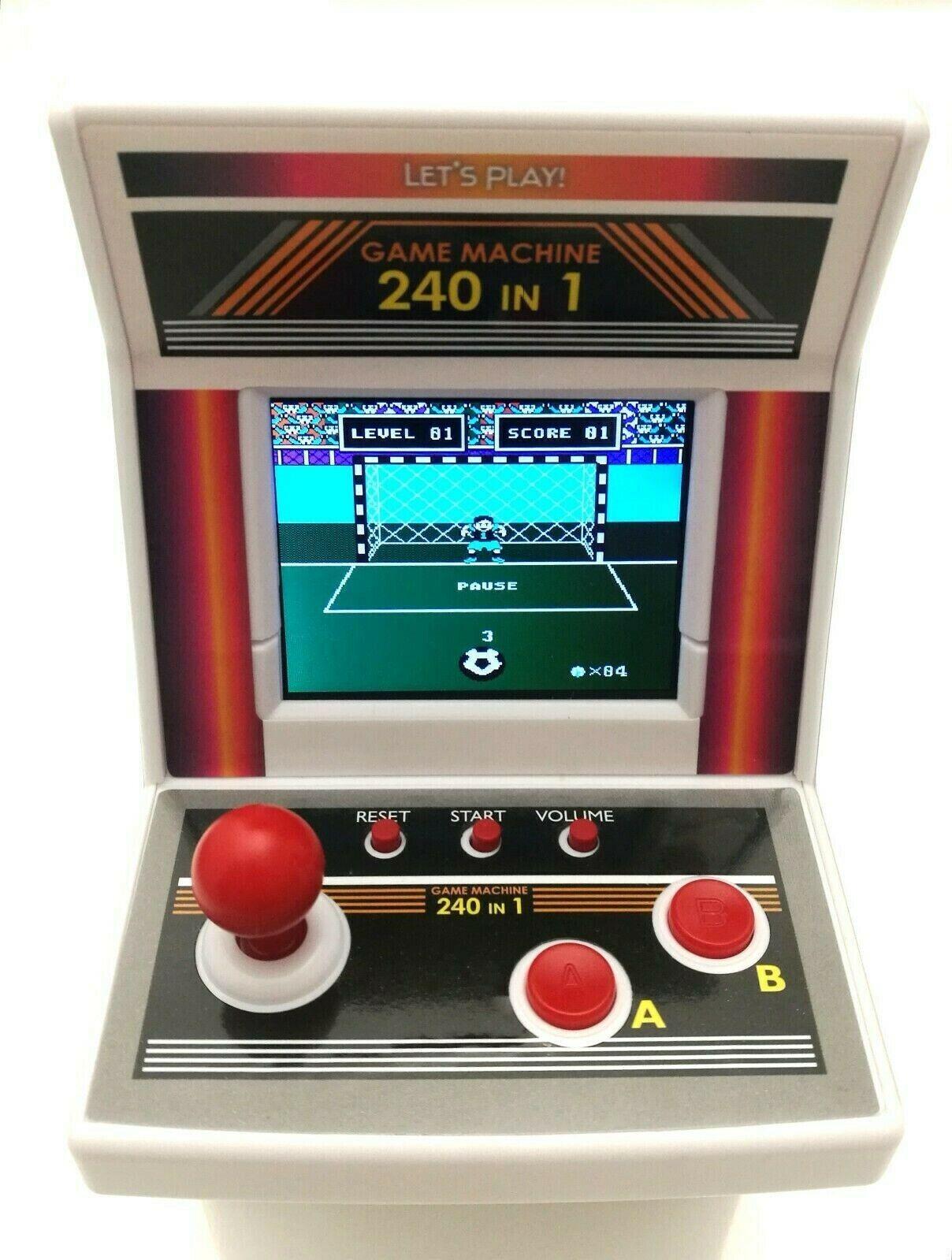 Mini Retro Spielautomat BATTER. Arcade Machine Spielkonsole 240 Spiele Geschenk