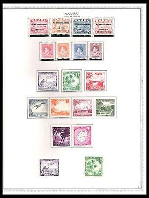 NAURU 1935-54  ISSUES ON PAGE (HM/UHM) *CLEAN & FRESH*