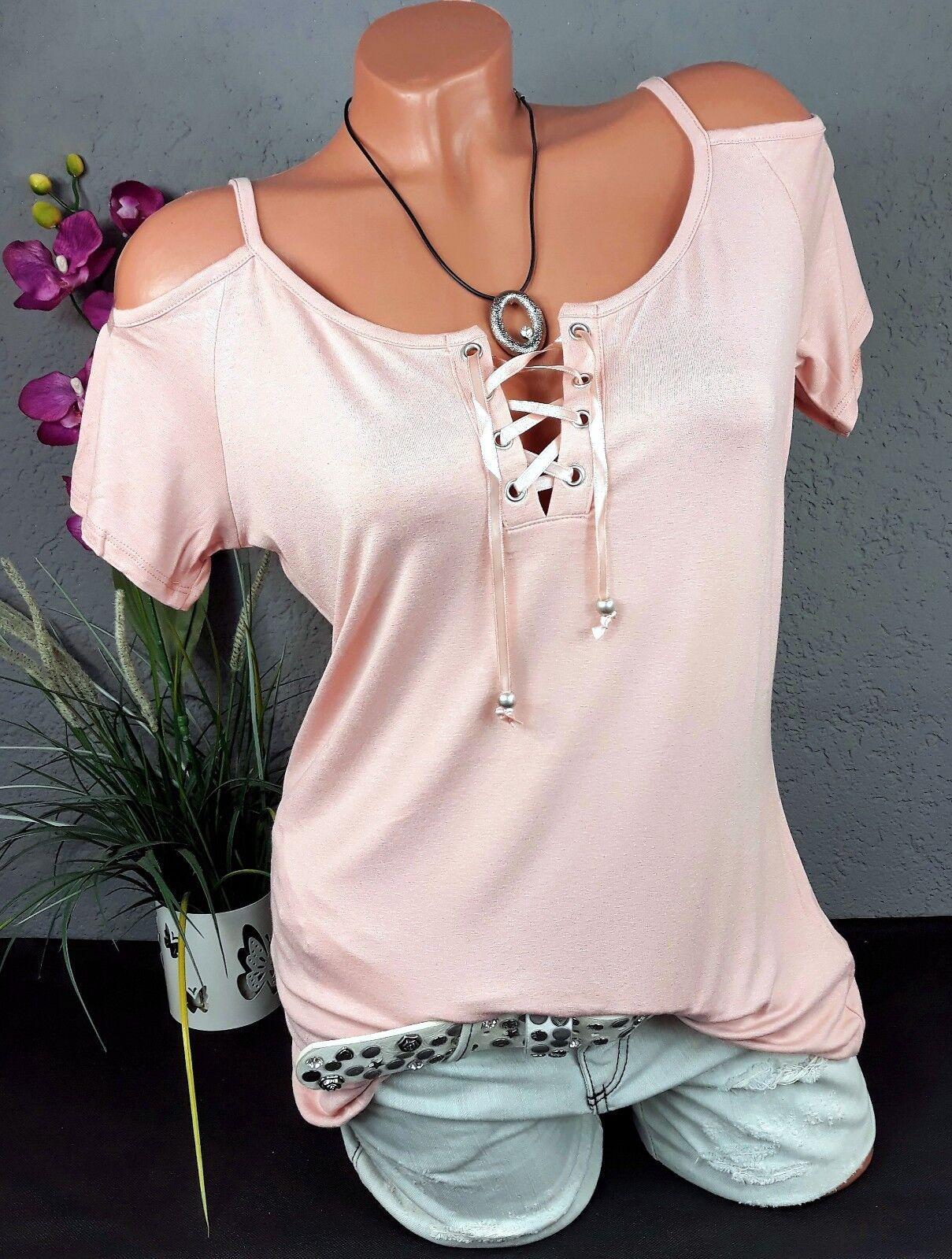 Melrose - Schulter Cut-Outs Shirt Bluse Off-Shoulder in rosa Gr. 40