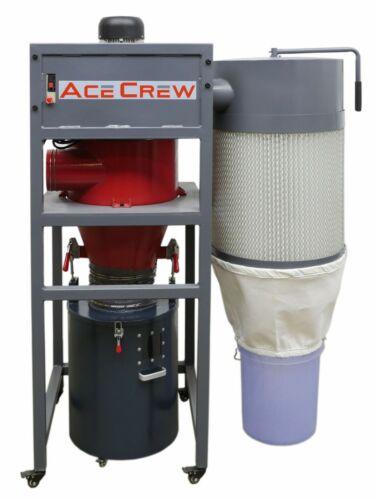 "AceCrew Cyclone Dust Collector 1.5HP 120VAC 6"" Inlet 2-Year Warranty AC-100"
