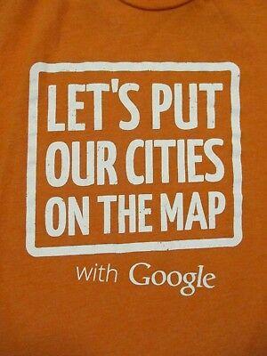 Plus Size 2Xl Orange Google Map T Shirt By American Apparel
