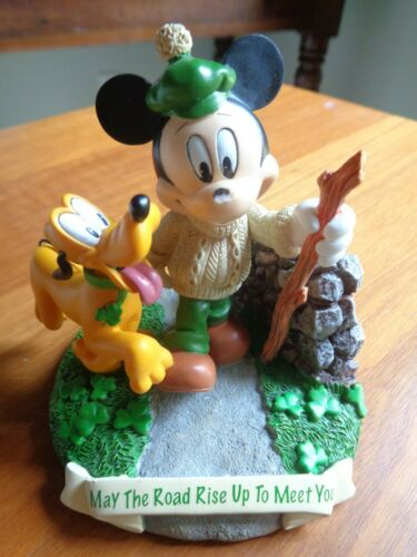 """Hamilton Collectible Disney Mickey Mouse & Pluto """" MAY THE ROAD RISE"""" Figurine"""