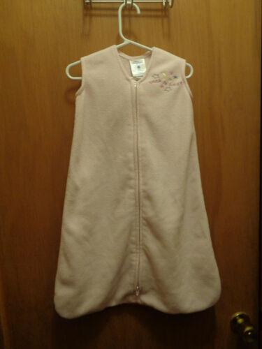 HALO Sleep Sack Solid Light Pink Sleeveless Zipper Small 0-6 months