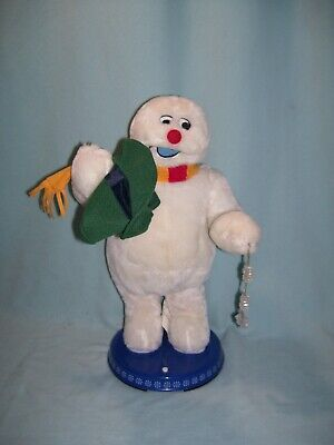 "Gemmy Frosty the Snowman Animated Dancing Spinning Snowflake 18"" Tall A-347"