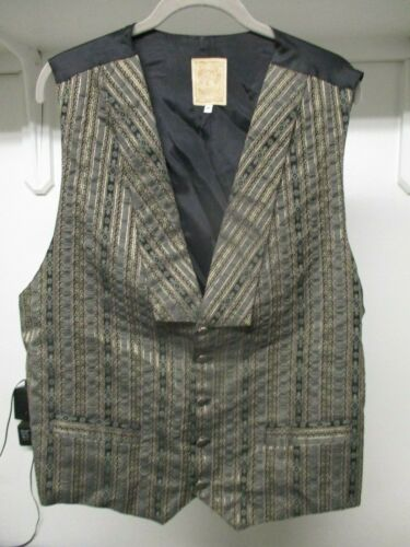 Wah Maker Western Style Cowboy Vest Size XL Frontier Clothing Made In USA