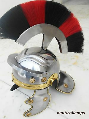Armour Helmet Centurian Roman Medieval Leonidas Movie Replica Helmet King Style