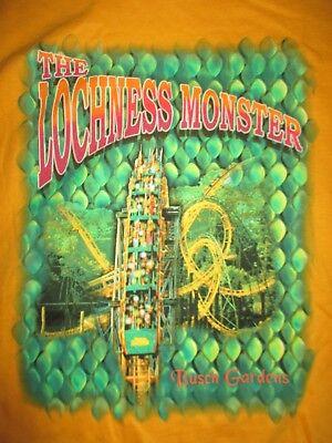Collector's Busch Gardens LOCH NESS MONSTER Roller Coaster (XL) T-Shirt w/ Tags