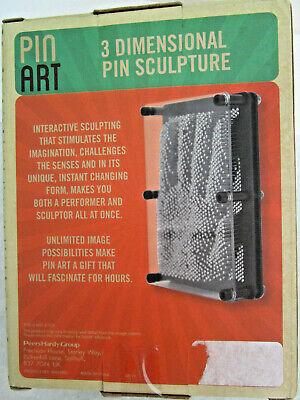 Interactive Metal Pin Art Sculpture Table Plexiglass Man Cave Office Desk Toy