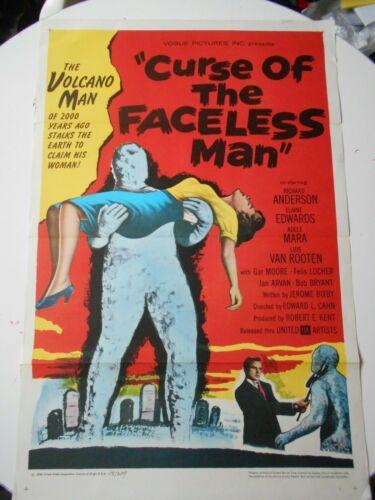 Curse of the Faceless Man original horror 1-sheet famous sci-fi monsters