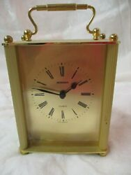 Vintage W. Germany Staiger brass Mantel carriage Clock