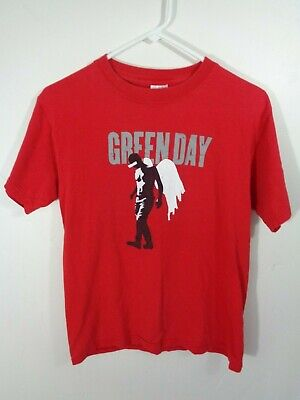 green day shirt red large punk rock