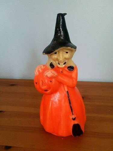 Vintage Halloween Witch Candle, Gurley Novelty Co. 8.5""