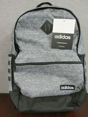 NWT Adidas Classic 3-Stripes CORE Backpack Tech Friendly Black/Gray Gray Classic Backpack