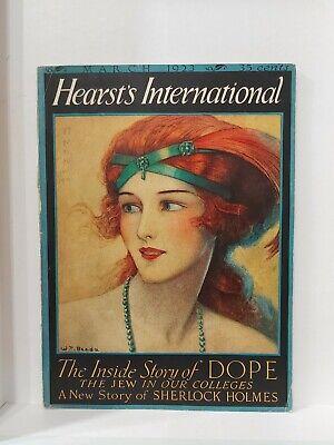 The Creeping Man Conan Doyle True 1st Sherlock Holmes Hearst's 1923 Dorr Steele