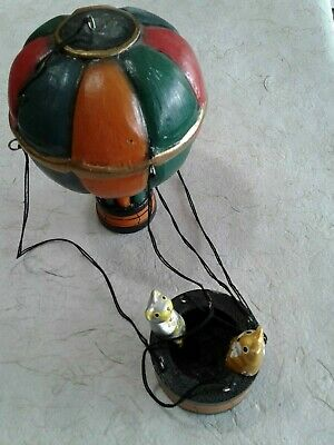 Yellow-Green-Red Striped Hot Air Balloon Model Hanging Aviation Ceiling - Green Hot Air Balloon
