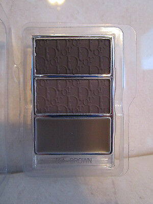 CHRISTIAN DIOR ALL IN BROW 3D LONG WEAR BROW CONTOUR KIT #001 BROWN REFILL