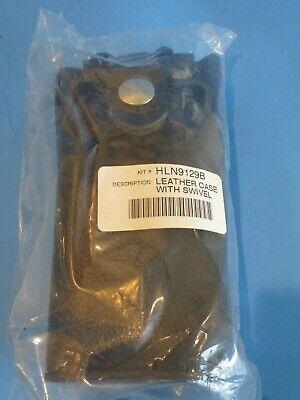 Motorola Hln9129b - Hard Leather Carry Case With Swivel Belt Loop Radio Holster