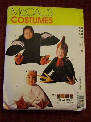 McCalls Pattern 8381 Toddler Halloween Costumes Duck Rooster Condor UNCUT Size 2