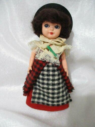 "VTG Cottage Welsh Girl 7"" Sleep Eyes-Traditional  Welsh Folk Doll-Celluloid-VGC"