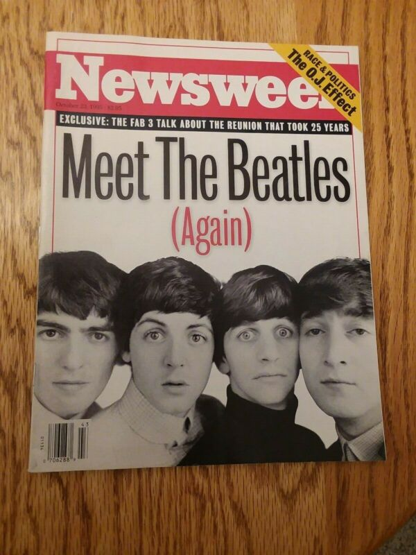 Newsweek Oct 23,1995 Meet The BEATLES Again, Beatles Reunion Story EX Cond