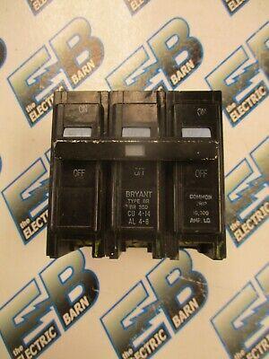 Bryant Br350 50 Amp 240 Volt 3 Pole Circuit Breaker- Warranty