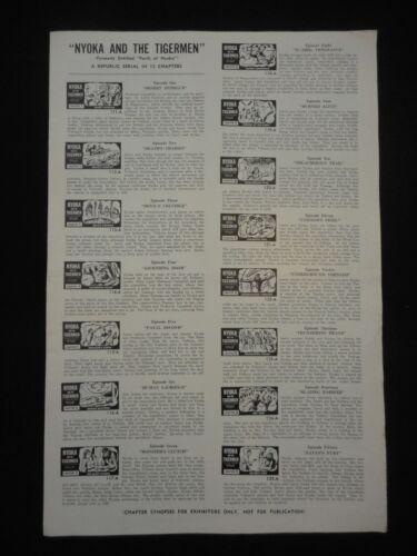 PERILS OF NYOKA AND THE TIGERMEN 1942 R52 Serial Pressbook Kay Aldridge