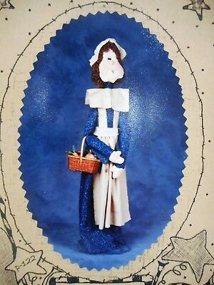 🍂 Fall Country Primitive Colonial Pilgrim Woman Cloth Doll Sewing Pattern 28