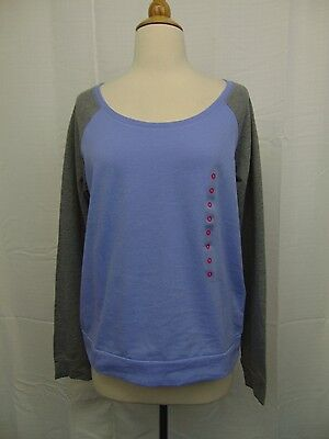Jenni Sleepwear Long Sleeve Scoop Neck Pajama Top Easter Egg Purple Large #2966 - Easter Sleepwear