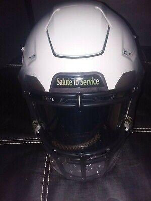 Custom Viking Helmet (New Minnesota Vikings Custom Salute to Service NFL SpeedFlex Football Helmet)
