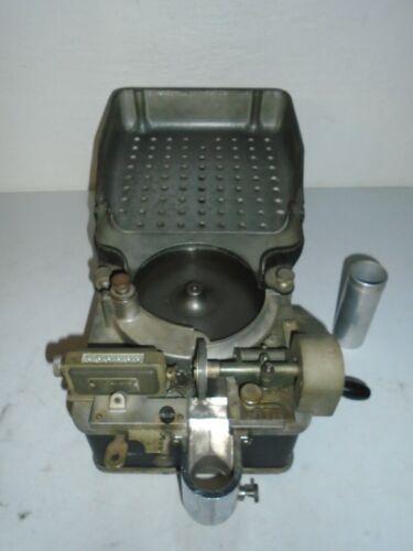 Vintage Downey-Johnson Coin Counter Manual Crank Read Description